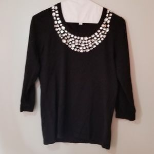 Women's NEW Small Sequined Blouse Joseph A